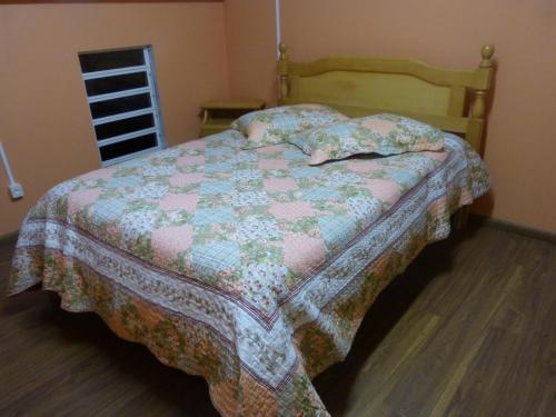 Cama ou camas em um quarto em Lago do Bosque