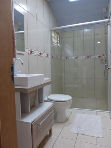Um banheiro em Lago do Bosque