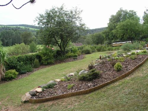 A garden outside Holiday home in Plasy 1618