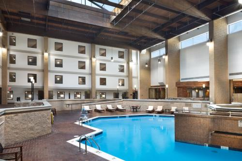 The swimming pool at or near DoubleTree by Hilton Lawrence