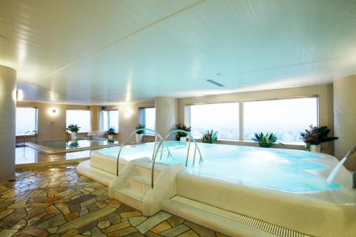 The swimming pool at or near JR Tower Hotel Nikko Sapporo