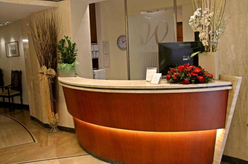 The lobby or reception area at Hotel Windrose