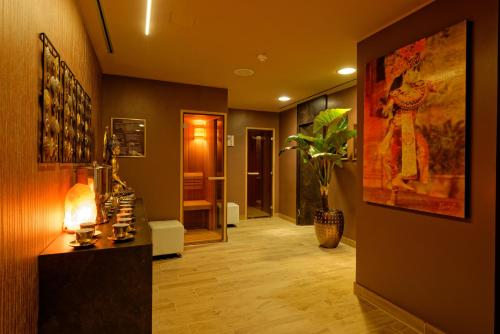 The lobby or reception area at uHOTEL