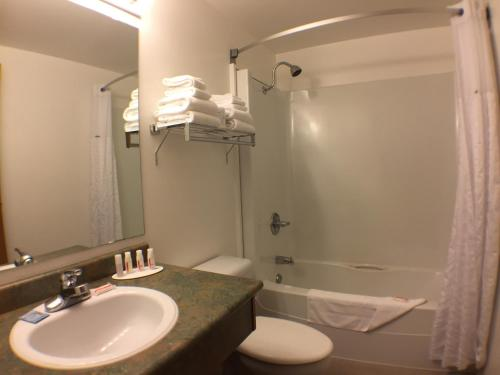A bathroom at Super 8 by Wyndham Kenora