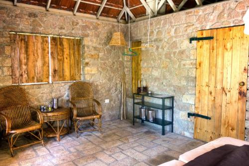 A seating area at Indhrivanam
