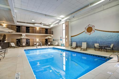 The swimming pool at or near DoubleTree by Hilton Downtown Wilmington - Legal District