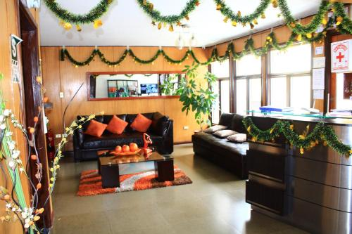 The lobby or reception area at Amaru Hotel Huaraz