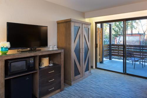 A television and/or entertainment center at Hotel Azure