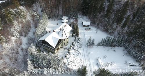 Widok z lotu ptaka na obiekt Villa Falsztyn Holiday Home