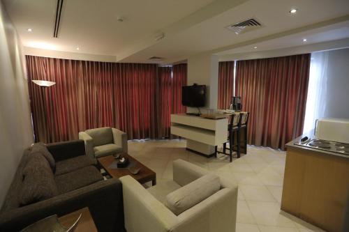 منطقة جلوس في فندق جبل عمان (هيريتيج هاوس)