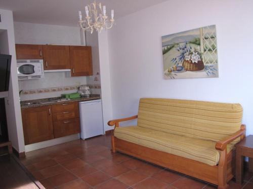 Una cocina o zona de cocina en Hotel-Apartamento Carolina y Vanessa