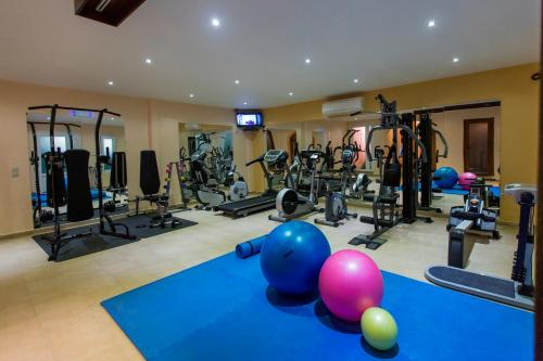 The fitness center and/or fitness facilities at Anassa Deluxe Suites