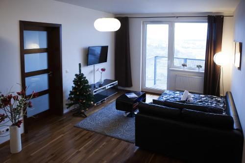A seating area at Sky Apartment Rezidence Eliska Tower
