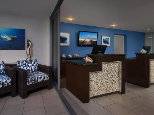 A television and/or entertainment centre at Marriott's Crystal Shores