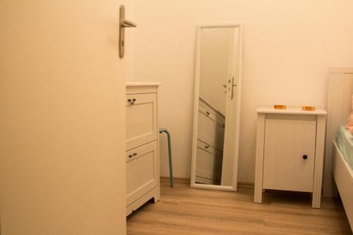 Ein Badezimmer in der Unterkunft City Apartment Leipzig