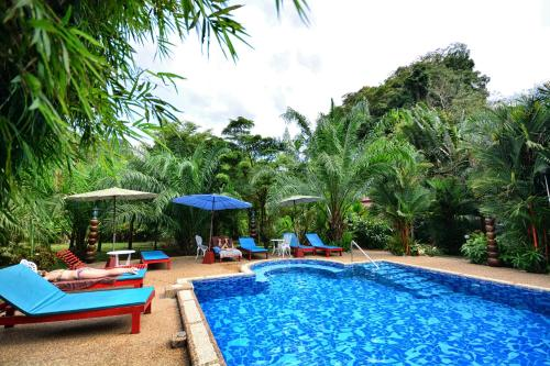 The swimming pool at or near The Hotel Khaosok and Spa