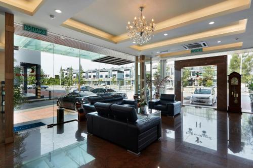 The lobby or reception area at Terra Nova Hotel