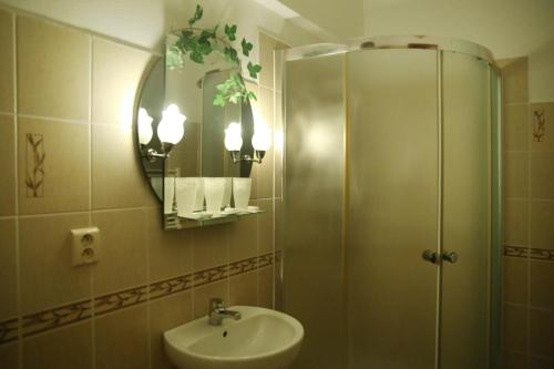 Kúpeľňa v ubytovaní Motel Orgován
