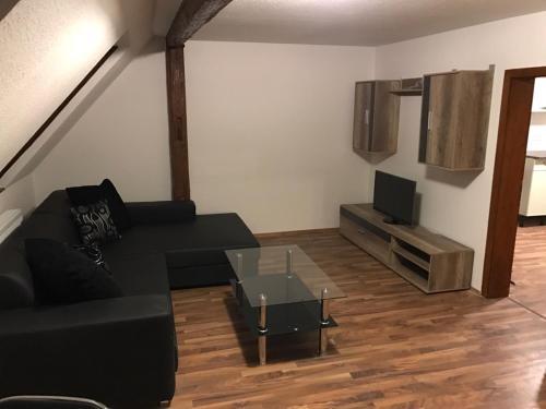 Ein Sitzbereich in der Unterkunft Vatan Apartment
