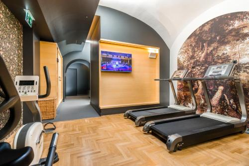 The fitness center and/or fitness facilities at Hotel Moments Budapest