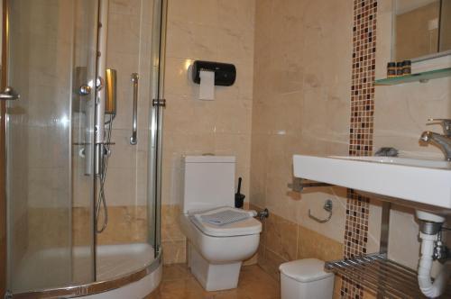 Ένα μπάνιο στο Hotel Drosia