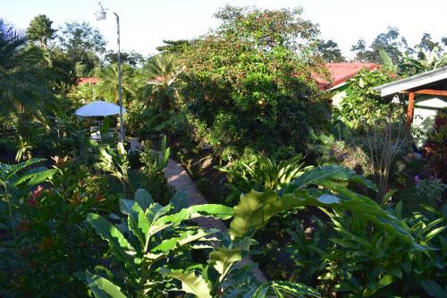 A garden outside Hotel Roca Negra Del Arenal