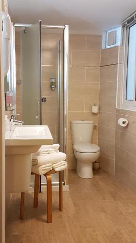 Salle de bains dans l'établissement Hôtel Napoléon