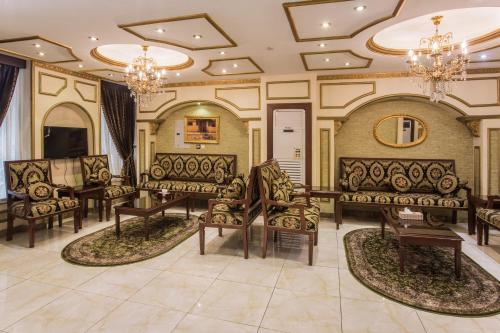 O saguão ou recepção de Qasr Al Mosaidya - Hira