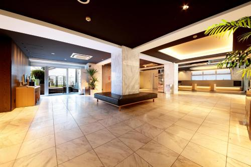 The lobby or reception area at Hotel Asia Center of Japan