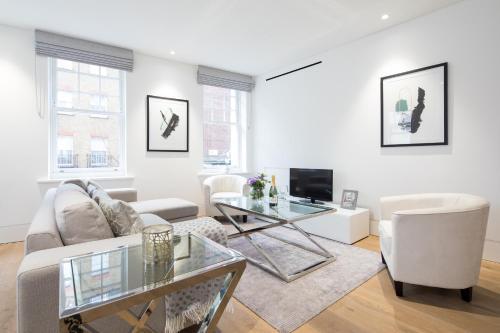 Zona de estar de Stunning and bright apartments - Romilly Street