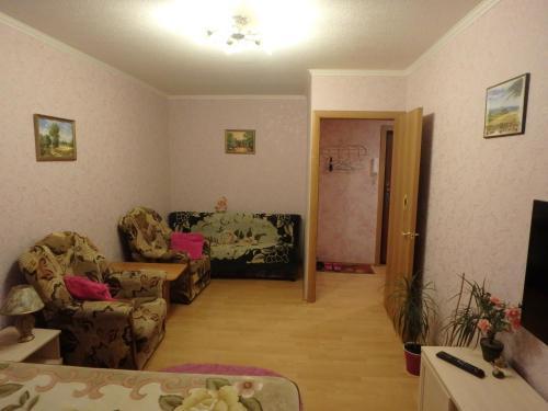 Гостиная зона в Apartment on Papanina