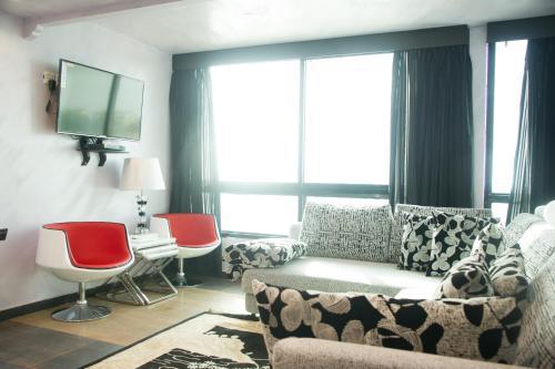 Uma área de estar em Bhadur Resort Jeddah
