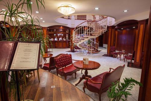 Лобби или стойка регистрации в Отель на Казачьем