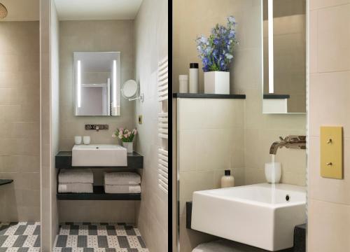 A bathroom at Hotel Ducs de Bourgogne