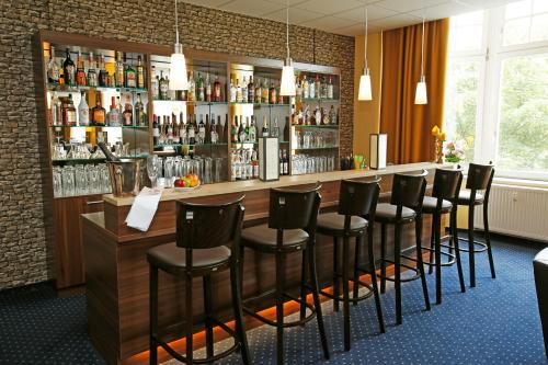 The lounge or bar area at Royal International Leipzig