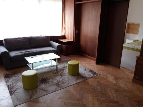 Ein Sitzbereich in der Unterkunft Apartments Tronicek