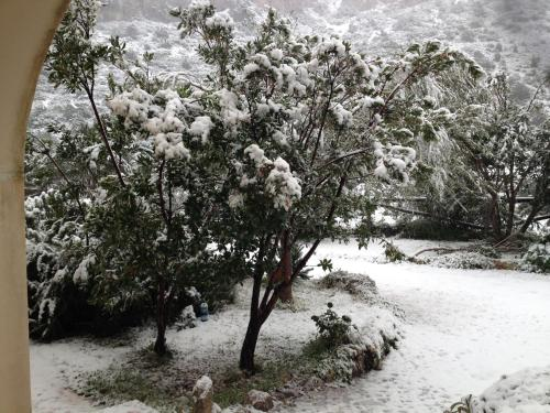 Punto Di Ristoro Uttolo during the winter