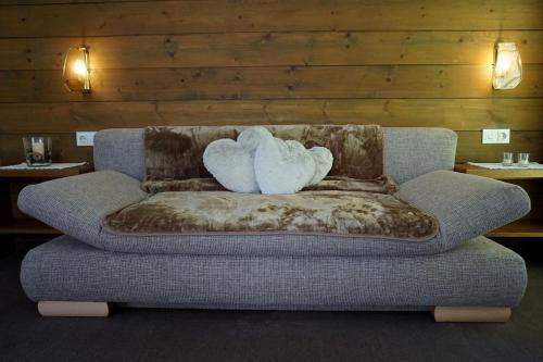 Ein Sitzbereich in der Unterkunft Apart Landhaus Zangerl