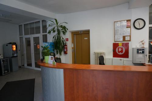 The lobby or reception area at Penzion Bella