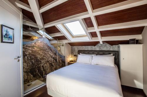 Cama o camas de una habitación en Hotel O Semaforo