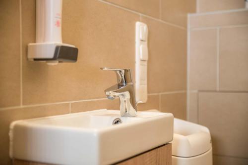 A bathroom at My Hostel