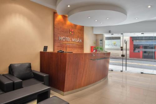 The lobby or reception area at Hotel Milan