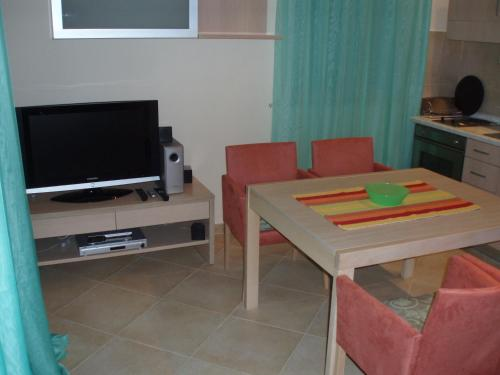 A television and/or entertainment centre at Apartments Radulovic