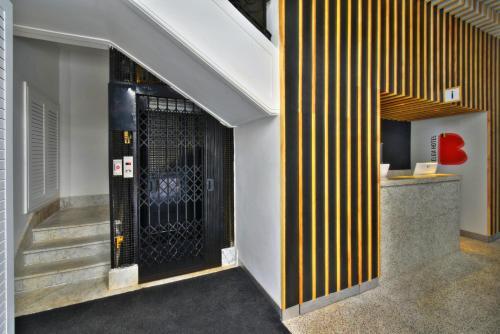 The lobby or reception area at Belga Hotel