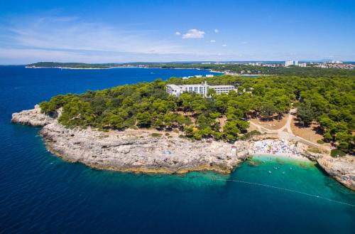 A bird's-eye view of Park Plaza Arena Pula