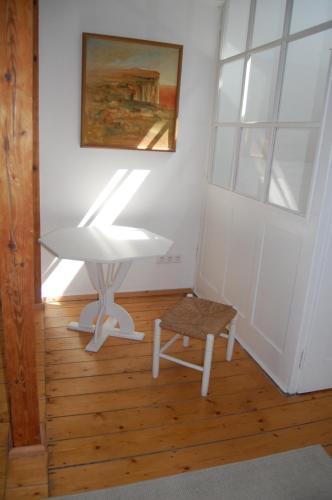 Ein Sitzbereich in der Unterkunft Geigenbauer-Häuschen