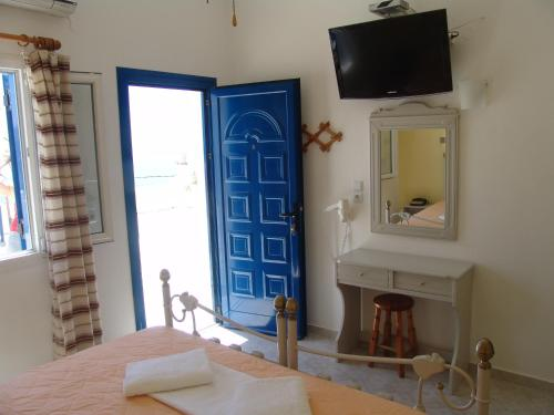 A television and/or entertainment center at Ios Pelagos