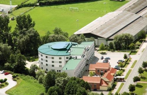 Blick auf Hotel GIP aus der Vogelperspektive