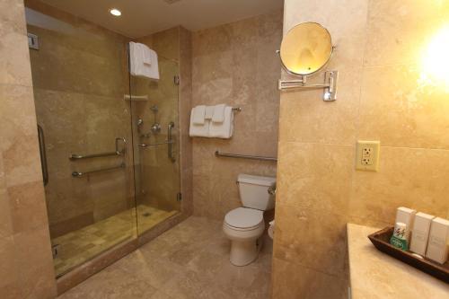 A bathroom at Cypress Inn