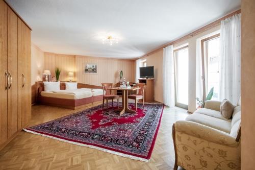 Гостиная зона в Hotel Zum grünen Kranz